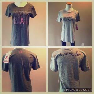 NWT Set of 2 Under Armour Power in Pink Tees